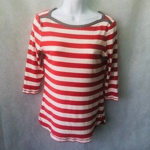 Gap Bowery Boatneck Red White Top M